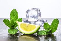 Cytryna z lodem zdjęcia royalty free
