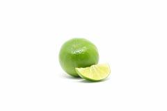 Cytryna, zielony cytryny wapno Zdjęcia Stock