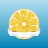 cytryny świeże kawałki żółtego ilustracja wektor