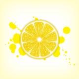 cytryny świeże kawałki żółtego royalty ilustracja