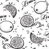 Cytryny bezszwowy tło Zdjęcia Royalty Free