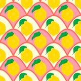 Cytryny bezszwowy tło Fotografia Stock