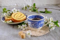 Cytryny biskwitowa rolka Zdjęcie Royalty Free