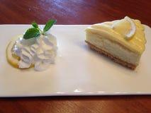 Cytryny cheesecake Zdjęcie Stock