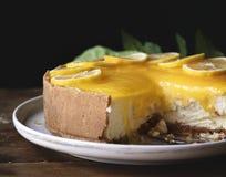 Cytryny cheesecake fotografii przepisu karmowy pomysł zdjęcia stock