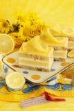 Cytryny curd tort Zdjęcie Royalty Free