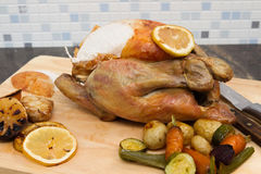 Cytryny i czosnku kurczak Zdjęcie Stock
