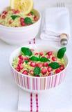 Cytryny i granatowa couscous sałatka Zdjęcie Royalty Free
