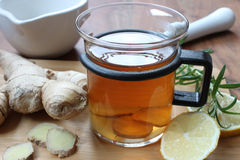 cytryny imbirowa herbata Obraz Stock