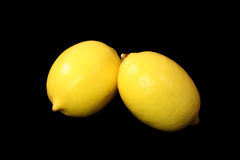 cytryny kolor żółty dwa Zdjęcie Stock