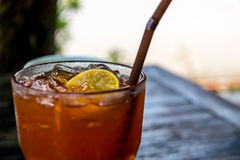 Cytryny lodowa herbata Fotografia Stock