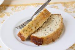 Cytryny Makowego ziarna chleb Zdjęcie Stock