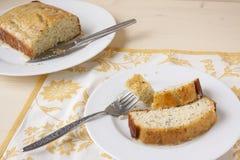 Cytryny Makowego ziarna chleb Zdjęcia Royalty Free