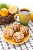 Cytryny makowego ziarna muffins Obrazy Royalty Free