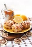 Cytryny makowego ziarna muffins Obrazy Stock