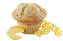 Cytryny makowego ziarna słodka bułeczka Obrazy Stock