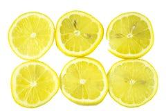 Cytryny obruszenie, odizolowywa na białym tle Zdjęcia Royalty Free