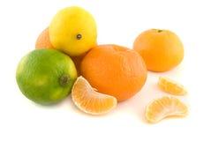 cytryny pomarańczę wapna obrazy royalty free