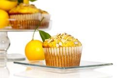 Cytryny Poppyseed słodka bułeczka Fotografia Royalty Free