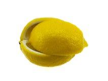 cytryny segmentu kolor żółty Zdjęcia Royalty Free