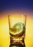 cytryny szklana woda Fotografia Royalty Free