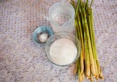 Cytryny trawy gorący herbaciany pojęcie Obrazy Royalty Free