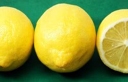 cytryny trzy Obrazy Stock