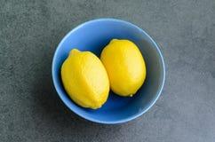 Cytryny w pucharze Zdjęcia Stock