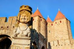Cytuje de Carcassonne w Carcassone, Francja obraz royalty free