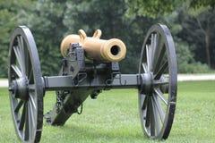 Cywilnej wojny działo na polu bitwy Zdjęcia Royalty Free