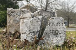 Cywilnej wojny ery Headstone Zdjęcie Stock