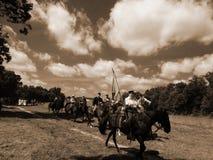 CYWILNEJ wojny kawalerii REENACTMENT Zdjęcia Royalty Free