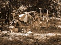 Cywilnej wojny obozowisko Zdjęcia Stock