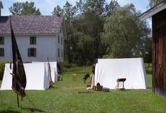 Cywilnej wojny Reenactment obóz Fotografia Stock