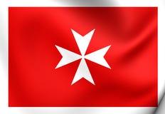 Cywilny chorąży Malta ilustracja wektor