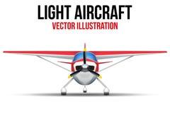 Cywilny Lekki samolot ilustracja wektor