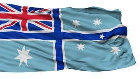Cywilny Lotniczy chorąży Australia flaga, Odosobniony Na bielu royalty ilustracja
