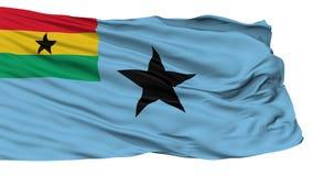 Cywilny Lotniczy chorąży Ghana flaga, Odosobniony Na bielu royalty ilustracja