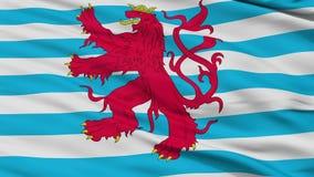Cywilny Lotniczy chorąży Luksemburg flaga zbliżenia Bezszwowa pętla ilustracja wektor