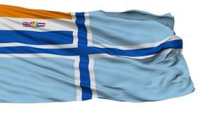 Cywilny Lotniczy chorąży Południowa Afryka Przestarzała flaga, Odosobniony Na bielu royalty ilustracja