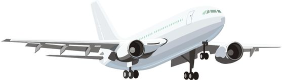 cywilny samolot royalty ilustracja