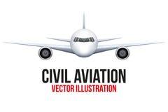 Cywilny samolot ilustracja wektor