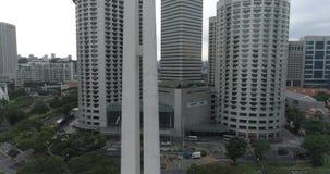 Cywilny Wojenny pomnik i linia horyzontu, Singapur zbiory wideo