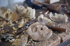 Cyzelowania drewna maska Zdjęcie Stock