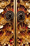 Cyzelowania drewniany Drzwi Fotografia Stock