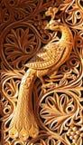 cyzelowania feniksa drewno fotografia royalty free