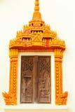 cyzelowania miejscowego stylu tajlandzki drewno Obrazy Stock