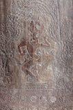 Cyzelowania na ścianie Angkor Wat świątynia Obraz Royalty Free