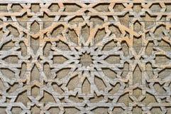 cyzelowania Oriental deseniowy drewno Obraz Royalty Free