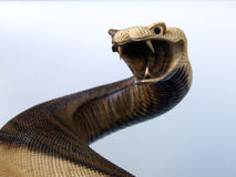 cyzelowania węża drewno Fotografia Royalty Free